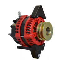Balmar Alternator, AT Series, 200a, 12v, SingleFT, 1-2 inch, DualPul, IsoGrd