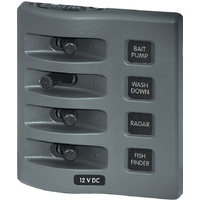 Blue Sea Panel WD Switch Only 4pos Gray