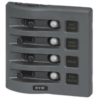Blue Sea Panel WD 12VDC CLB 4pos Gray