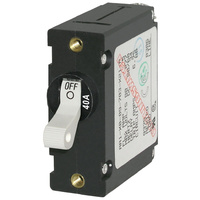 Blue Sea Circuit Breaker AA1Toggle 40A Wht