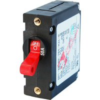 Blue Sea Circuit Breaker AA1Toggle 50A Red