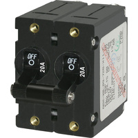 Blue Sea Circuit Breaker AA2Toggle 20A Blk