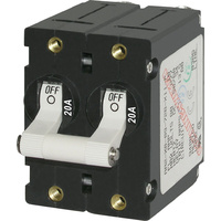 Blue Sea Circuit Breaker AA2Toggle 20A Wht