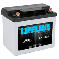 Lifeline AGM GPL-1400T 12V/43Ah Starting Battery
