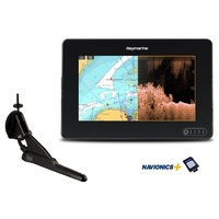 Raymarine AXIOM 7 DV, Multi-function 7in Display with integrated DownVision, 600WSonar including CPT-100DVS transducer and Australia/NZ Navionics+ Cha