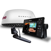 "Raymarine eS78 7in MFD with DownVision Sonar, Wi-Fi, AUS Navionics+ Chart, Quantum Q24C 18"" Radar with 10m Power & Data Cable"