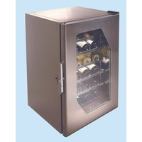 Stainless Steel Wine Cooler Msc115 - 18 Bottles - Stainless Steel Door