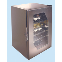 Stainless Steel Wine Cooler Ms130 - 20 Bottles - Glass Door