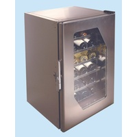 Stainless Steel Wine Cooler Ms160 - 24 Bottles - Glass Door
