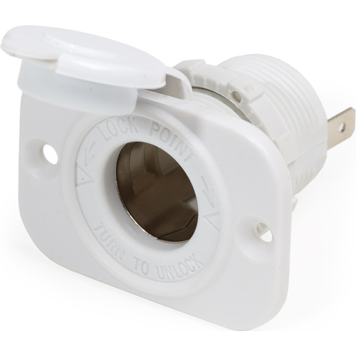 Blue Sea 12VDC Dash Socket Wht