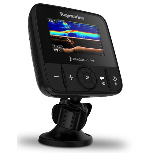 Raymarine Dragonfly 4Pro fishfinder 4.3in screen with CHIRP Downvision & Sonar incl CPT-DVS transducer, Wi-Fi, GPS Chart Plotter & AUS/NZ CMAP Essenti