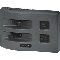 Blue Sea Panel WD 12VDC Fused 2pos Gray