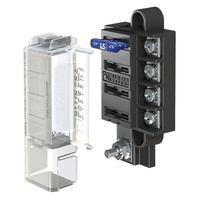 Blue Sea Fuse Block STBlade Mini 4circ w/cvr