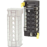 Blue Sea ST CLB Circuit Breaker Block - 6 Position with Negative Bus