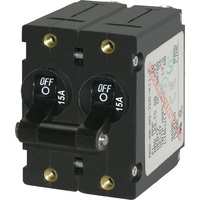 Blue Sea Circuit Breaker AA2Toggle 15A Blk