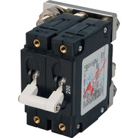 Blue Sea Circuit Breaker CA2Toggle 200A Wht