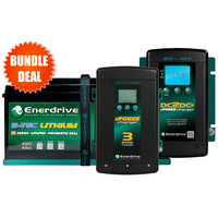 Enerdrive ePOWER B-TEC 200Ah G2 Lithium Battery with EN3DC40+ DC2DC Charger & 40A AC Smart Charger