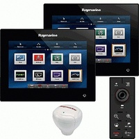 Raymarine gS165 - 15.4 in. Glass Bridge Dual Display Bundle (12 o'clock Viewing Angle), RMK-9, RS130 GPS & STNG Starter kit