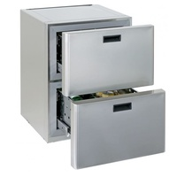 Frigoboat 130 Litre Fridge Twin Drawer Stainless Steel Cabinet - Ms130 2D