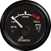 Wema Holding Tank Level Gauge with Black Bezel (240-30 ohm)