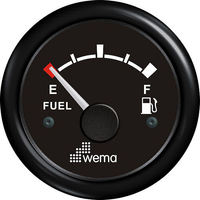 Wema Fuel Level Gauge with Black Plastic Bezel (0-180ohm)