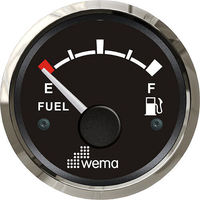 Wema Fuel Level Gauge with Stainless Steel Bezel (240-30 ohm)
