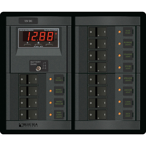 Blue Sea Panel 360 12VDC 12pos DMM FR