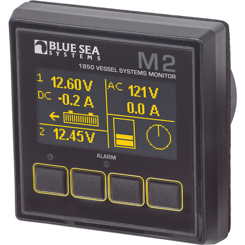 Blue Sea M2 Vessel Systems Monitor (Bilge/Current/Tank/Voltage)
