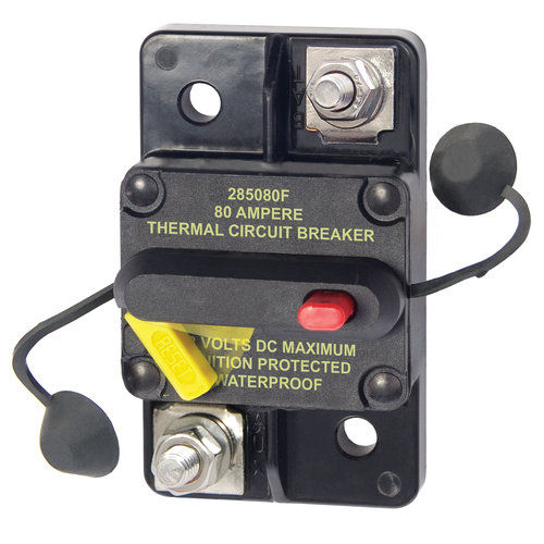 Blue Sea 285 Series Circuit Breaker - Surface Mount 80A