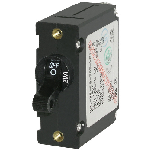 Blue Sea Circuit Breaker AA1Toggle 20A Blk