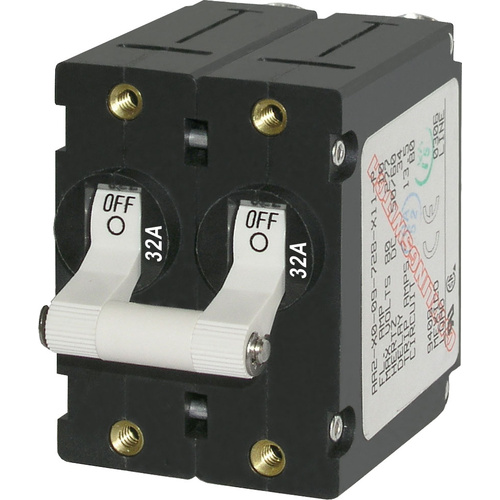 Blue Sea Circuit Breaker AA2Toggle 32A Wht