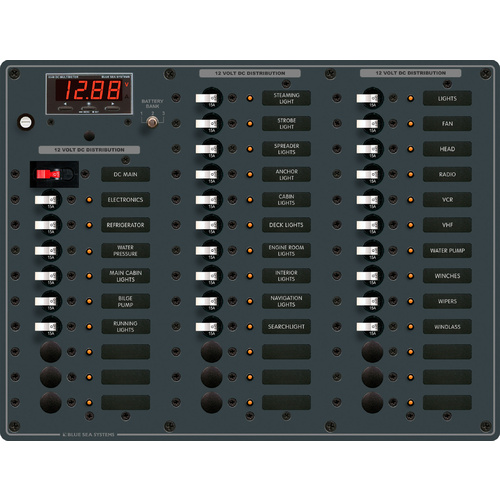 Blue Sea Panel DC 36pos w/Main DMM