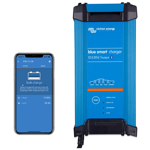 Victron Blue Smart Bluetooth IP22 Battery Charger 12/30(1)